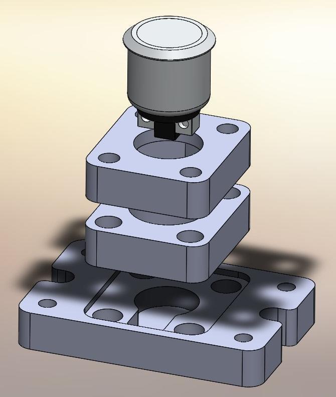 Sonda cero mediante pulsador para fresadora X6-1500GT